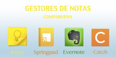 Comparativa entre Springpad, Keep, Evernote y Catch